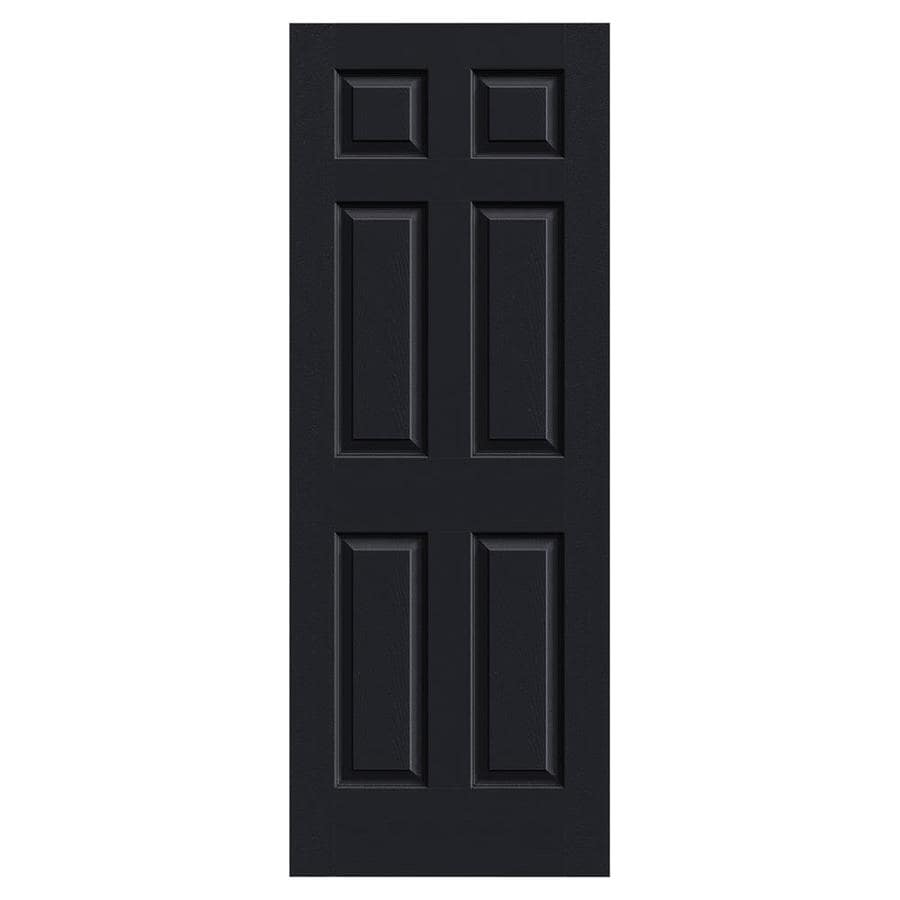 JELD-WEN Midnight Solid Core 6-Panel Slab Interior Door (Common: 30-in x 80-in; Actual: 30-in x 80-in)