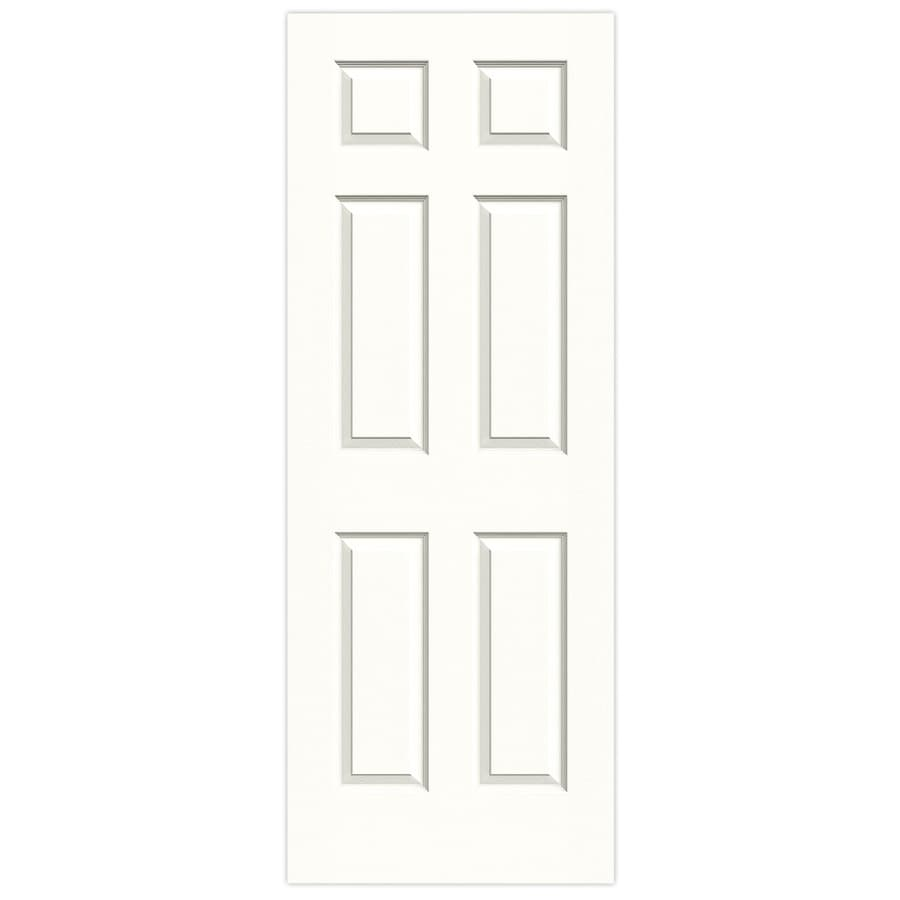 JELD-WEN Snow Storm Hollow Core 6-Panel Slab Interior Door (Common: 28-in x 80-in; Actual: 28-in x 80-in)