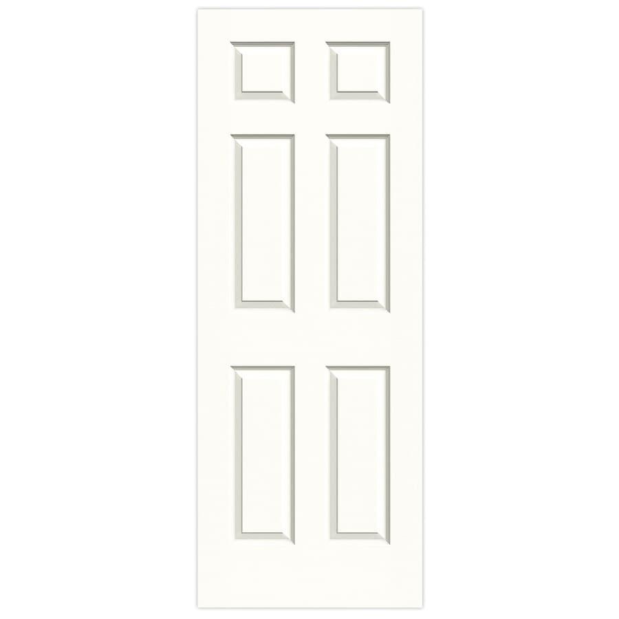 JELD-WEN Snow Storm Hollow Core 6-Panel Slab Interior Door (Common: 30-in x 80-in; Actual: 30-in x 80-in)