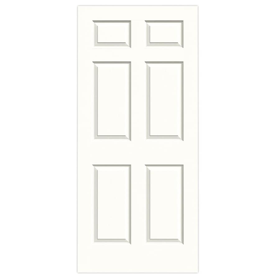 JELD-WEN Snow Storm Hollow Core 6-Panel Slab Interior Door (Common: 36-in x 80-in; Actual: 36-in x 80-in)