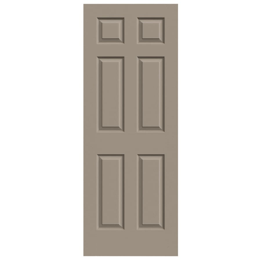 JELD-WEN Sand Piper Hollow Core 6-Panel Slab Interior Door (Common: 24-in x 80-in; Actual: 24-in x 80-in)