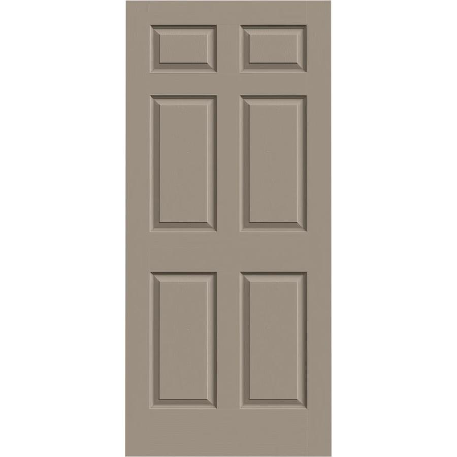JELD-WEN Sand Piper Hollow Core 6-Panel Slab Interior Door (Common: 36-in x 80-in; Actual: 36-in x 80-in)