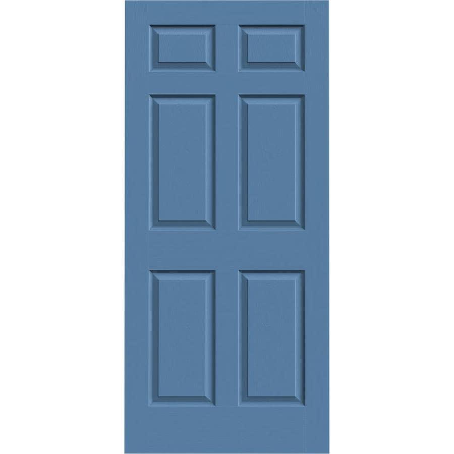 JELD-WEN Colonist Blue Heron Hollow Core Molded Composite Slab Interior Door (Common: 36-in x 80-in; Actual: 36-in x 80-in)