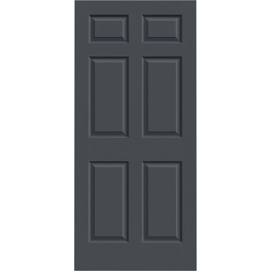 JELD-WEN Slate Hollow Core 6-Panel Slab Interior Door (Common: 36-in x 80-in; Actual: 36-in x 80-in)