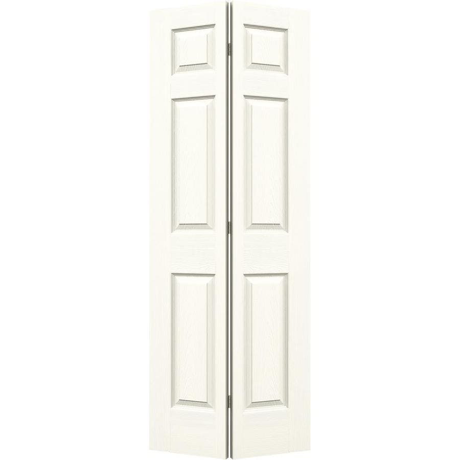 JELD-WEN White Hollow Core 6-Panel Bi-Fold Closet Interior Door (Common: 30-in x 80-in; Actual: 29.5-in x 79-in)