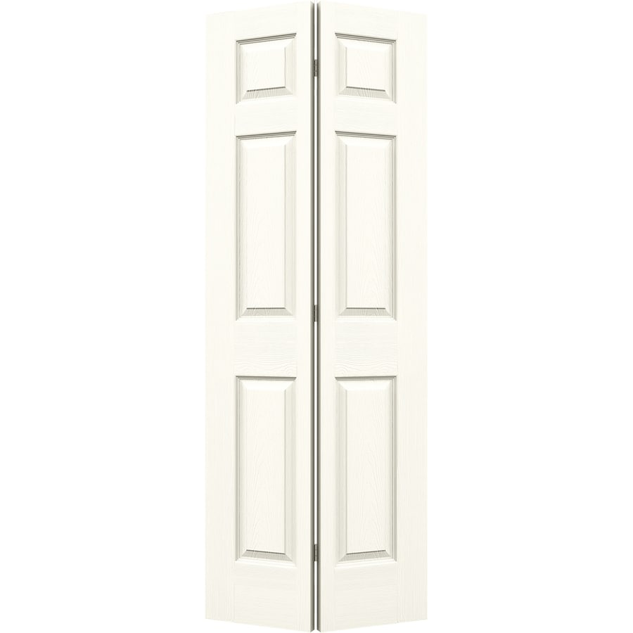JELD-WEN White Hollow Core 6-Panel Bi-Fold Closet Interior Door (Common: 32-in x 80-in; Actual: 31.5-in x 79-in)