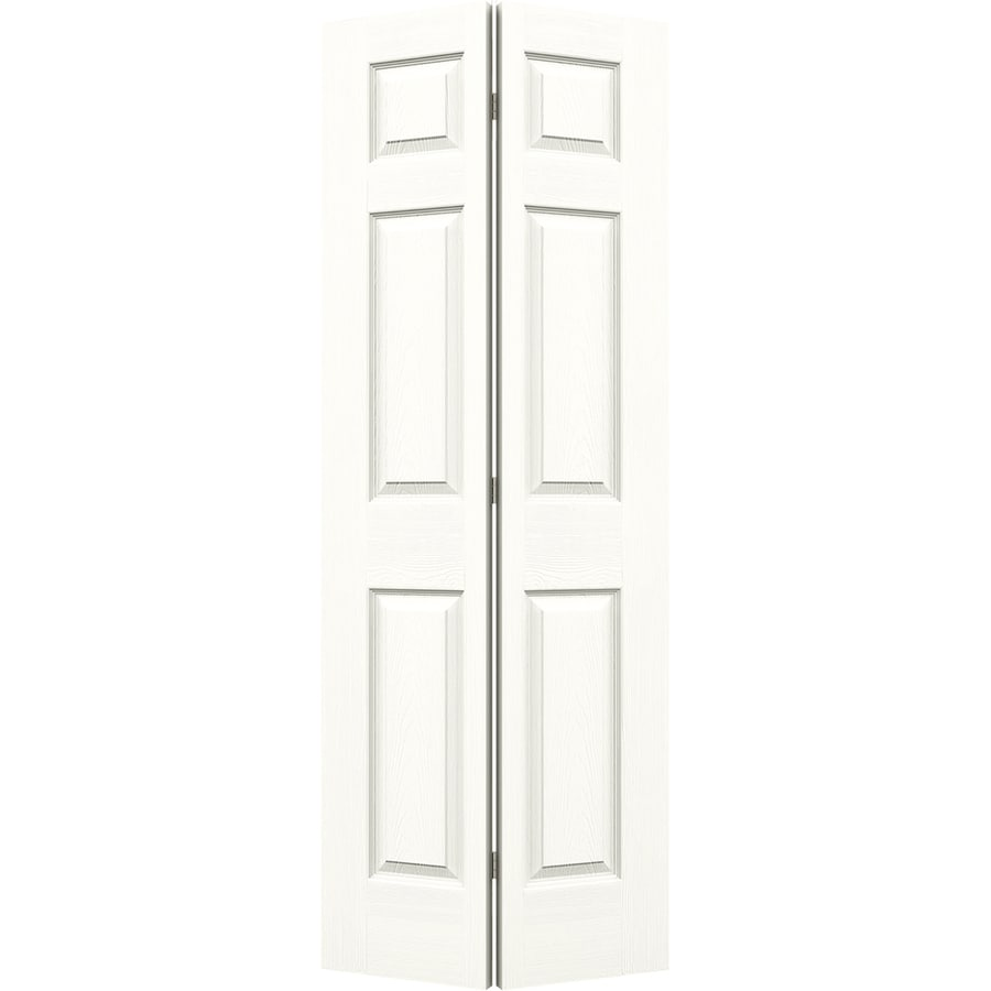 JELD-WEN Colonist Snow Storm Hollow Core Molded Composite Bi-Fold Closet Interior Door with Hardware (Common: 32-in x 80-in; Actual: 31.5000-in x 79-in)