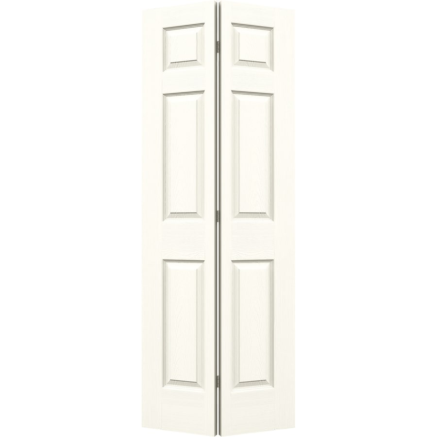JELD-WEN Colonist Moonglow Hollow Core Molded Composite Bi-Fold Closet Interior Door with Hardware (Common: 24-in x 80-in; Actual: 23.5000-in x 79-in)