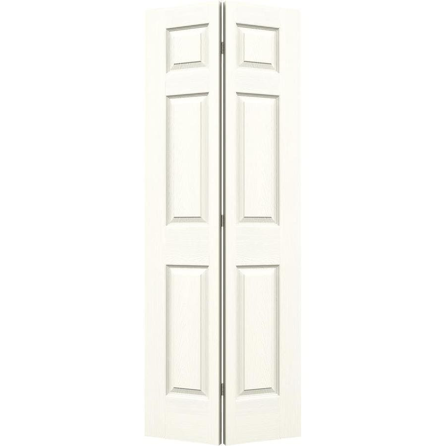 JELD-WEN Colonist Moonglow Hollow Core Molded Composite Bi-Fold Closet Interior Door with Hardware (Common: 28-in x 80-in; Actual: 27.5000-in x 79-in)