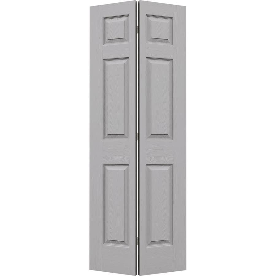 JELD-WEN Driftwood Hollow Core 6-Panel Bi-Fold Closet Interior Door (Common: 32-in x 80-in; Actual: 31.5-in x 79-in)