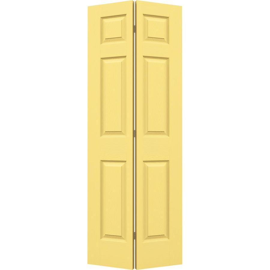 JELD-WEN Colonist Marigold Bi-Fold Closet Interior Door (Common: 24-in x 80-in; Actual: 23.5000-in x 79-in)