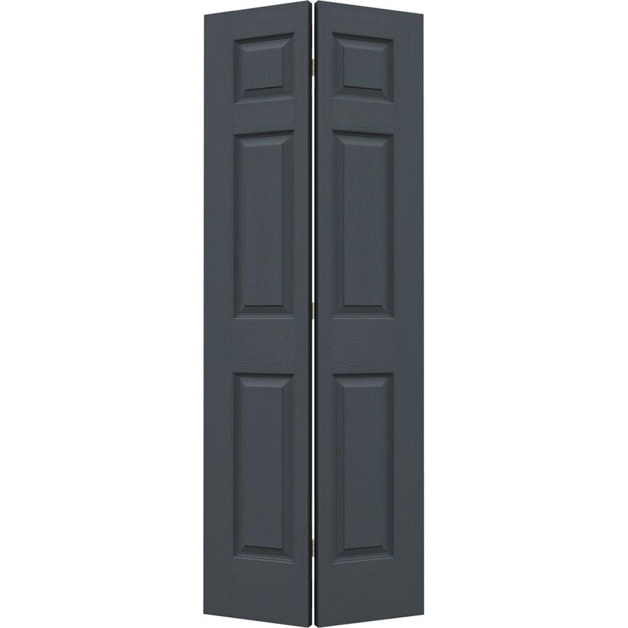 JELD-WEN Colonist Slate Bi-Fold Closet Interior Door (Common: 24-in x 80-in; Actual: 23.5000-in x 79-in)