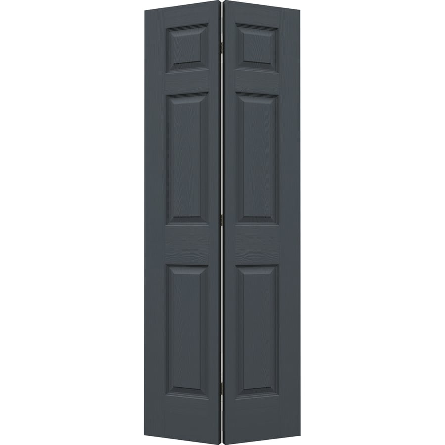 JELD-WEN Slate Hollow Core 6-Panel Bi-Fold Closet Interior Door (Common: 28-in x 80-in; Actual: 27.5-in x 79-in)