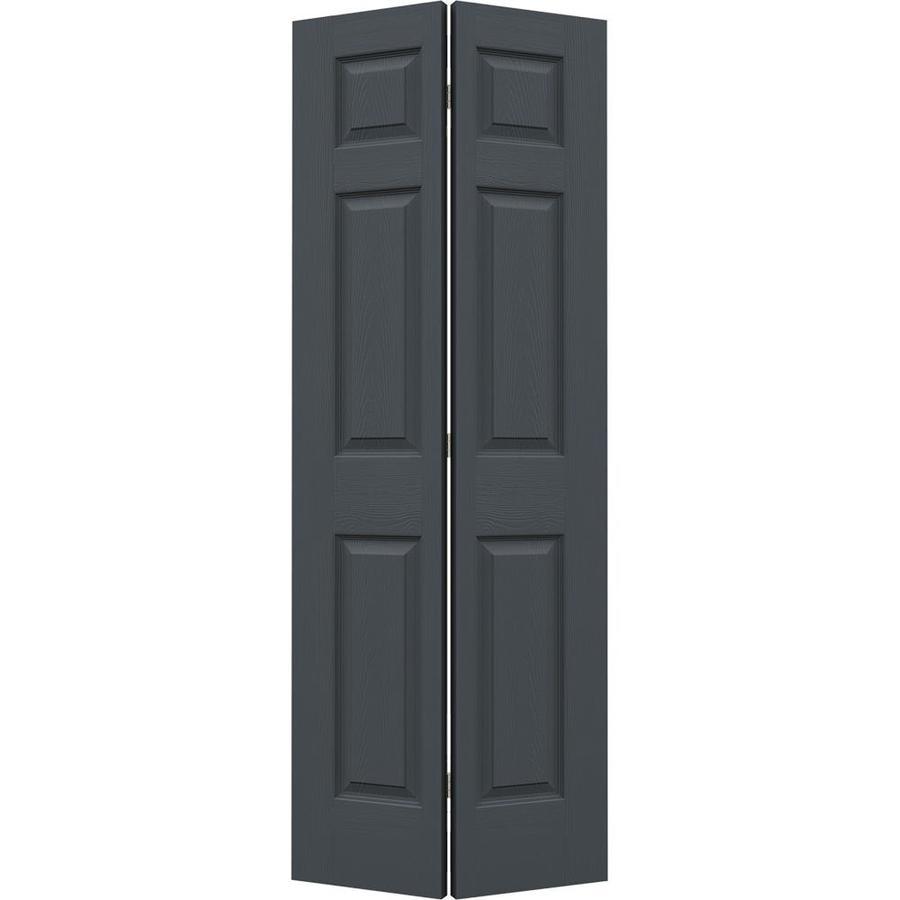 JELD-WEN Slate Hollow Core 6-Panel Bi-Fold Closet Interior Door (Common: 30-in x 80-in; Actual: 29.5-in x 79-in)