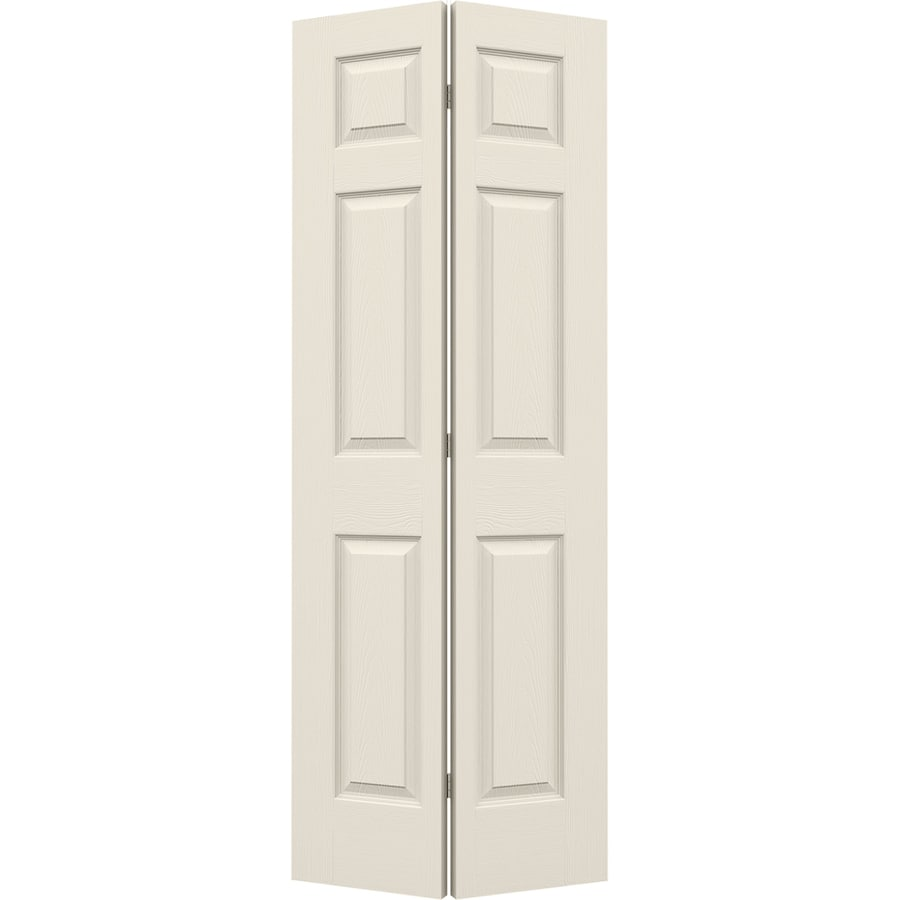 JELD-WEN Colonist Primed Hollow Core Molded Composite Bi-Fold Closet Interior Door with Hardware (Common: 24-in x 80-in; Actual: 23.5000-in x 79-in)