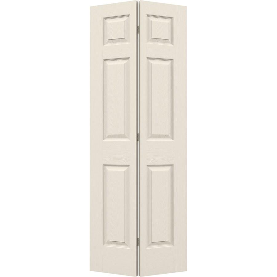 JELD-WEN Hollow Core 6-Panel Bi-Fold Closet Interior Door (Common: 28-in x 80-in; Actual: 27.5-in x 79-in)