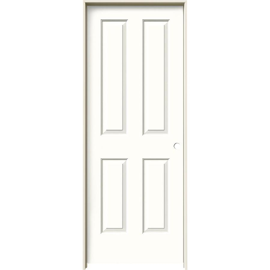 JELD-WEN Coventry Snow Storm Hollow Core Molded Composite Single Prehung Interior Door (Common: 32-in x 80-in; Actual: 33.562-in x 81.688-in)