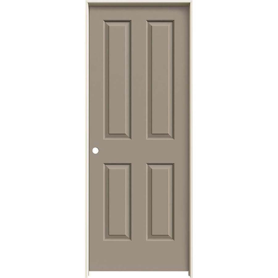 JELD-WEN Sand Piper Prehung Hollow Core 4 Panel Square Interior Door (Common: 24-in x 80-in; Actual: 25.562-in x 81.688-in)