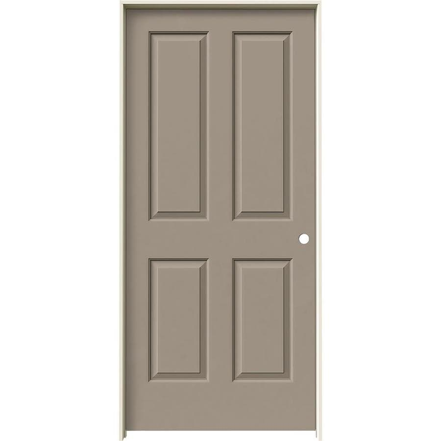 JELD-WEN Coventry Sand Piper Hollow Core Molded Composite Single Prehung Interior Door (Common: 36-in x 80-in; Actual: 37.562-in x 81.688-in)