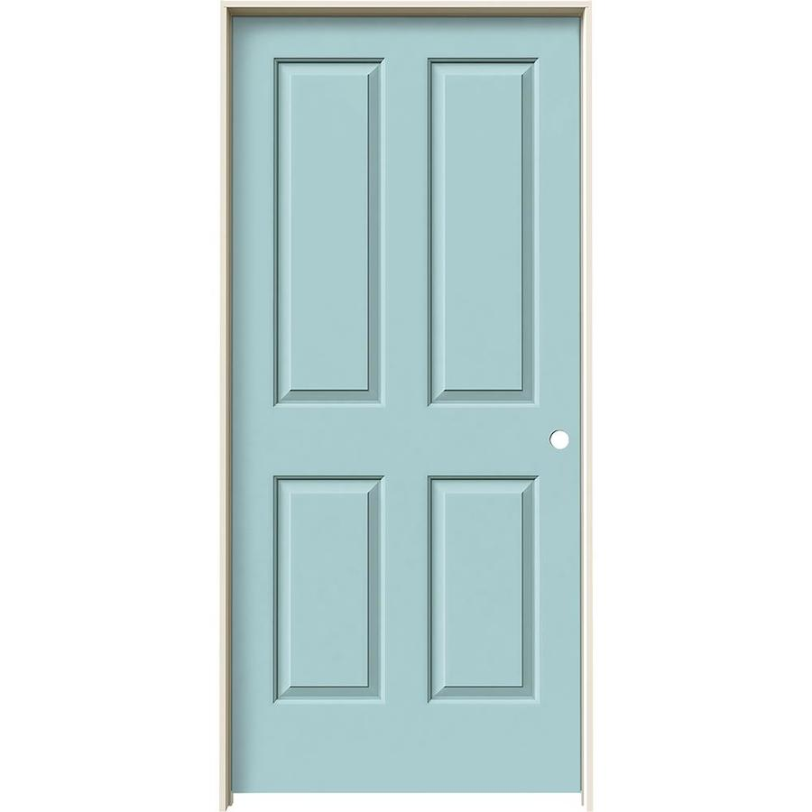 JELD-WEN Coventry Sea Mist Hollow Core Molded Composite Single Prehung Interior Door (Common: 36-in x 80-in; Actual: 37.5620-in x 81.6880-in)