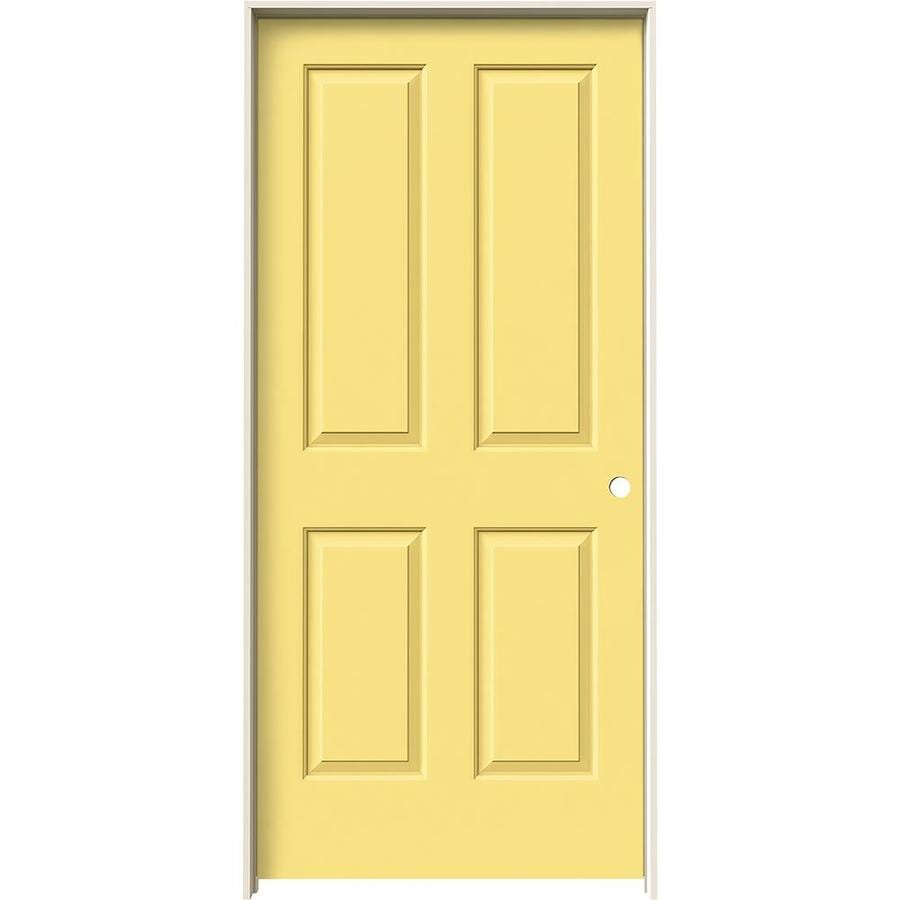 JELD-WEN Coventry Marigold Hollow Core Molded Composite Single Prehung Interior Door (Common: 36-in x 80-in; Actual: 37.562-in x 81.688-in)