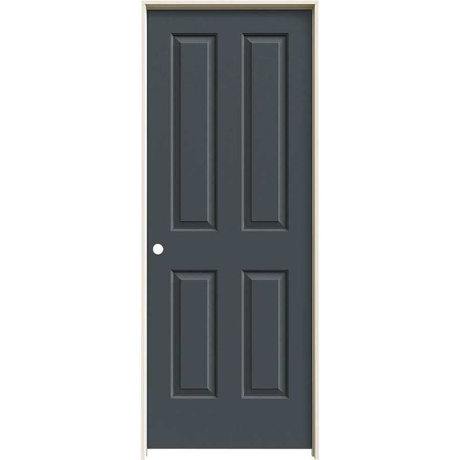 JELD-WEN Coventry Slate Hollow Core Molded Composite Single Prehung Interior Door (Common: 28-in x 80-in; Actual: 29.5620-in x 81.6880-in)