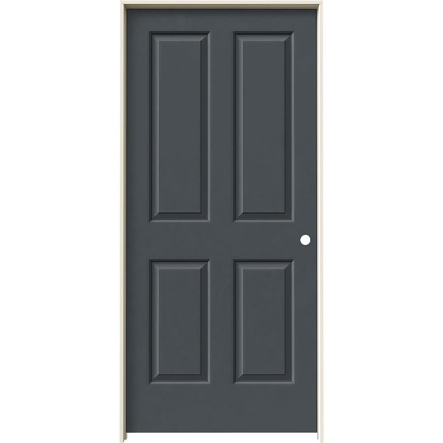 JELD-WEN Coventry Slate 4 Panel Square Single Prehung Interior Door (Common: 36-in x 80-in; Actual: 37.562-in x 81.688-in)