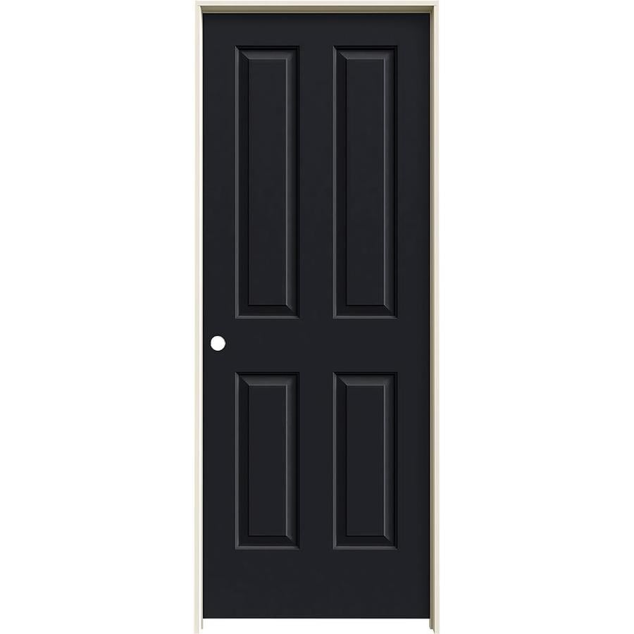 JELD-WEN Coventry Midnight Prehung Hollow Core 4 Panel Square Interior Door (Common: 28-in x 80-in; Actual: 29.562-in x 81.688-in)