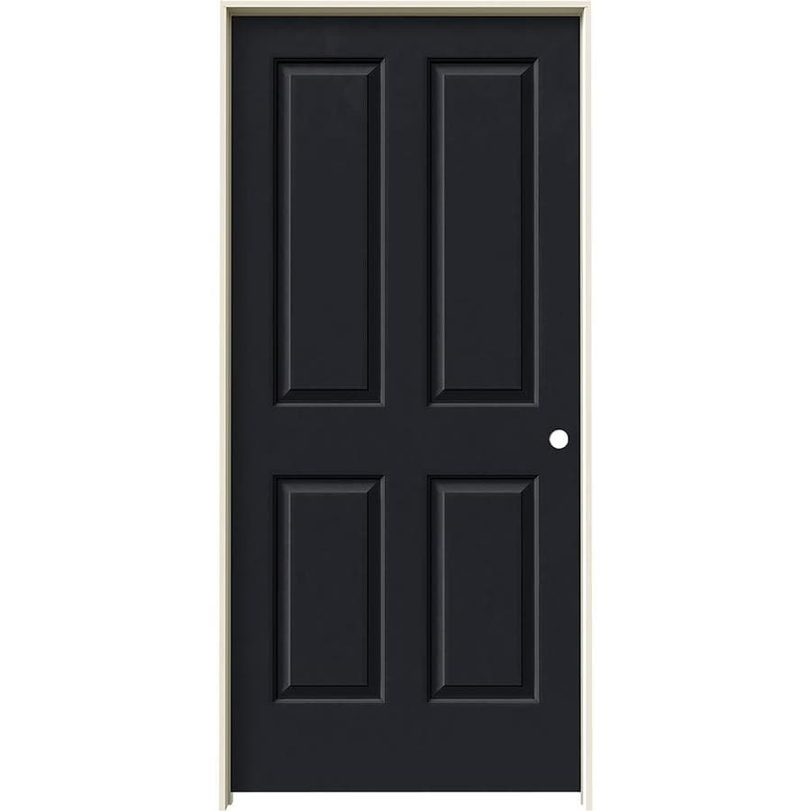 JELD-WEN Coventry Midnight Prehung Hollow Core 4 Panel Square Interior Door (Common: 36-in x 80-in; Actual: 37.562-in x 81.688-in)
