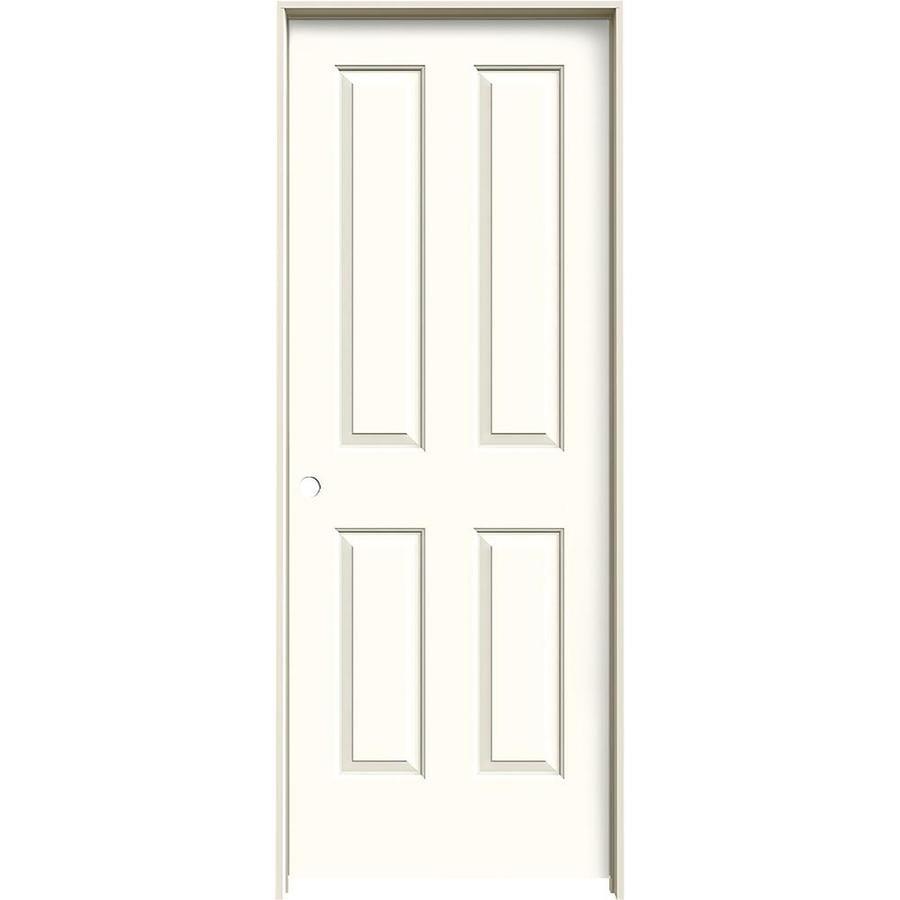 JELD-WEN Coventry Moonglow Solid Core Molded Composite Single Prehung Interior Door (Common: 24-in x 80-in; Actual: 25.562-in x 81.688-in)