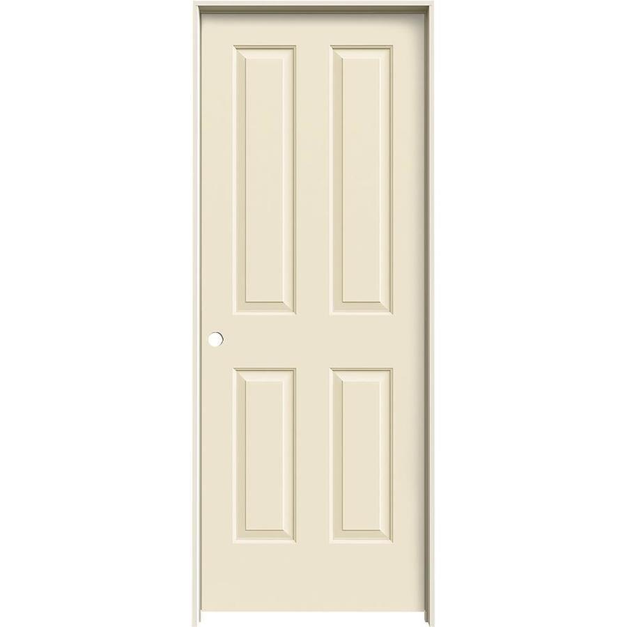 JELD-WEN Coventry Cream-N-Sugar Solid Core Molded Composite Single Prehung Interior Door (Common: 24-in x 80-in; Actual: 25.5620-in x 81.6880-in)