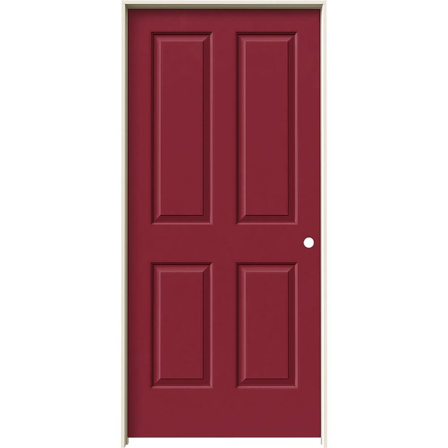 JELD-WEN Coventry Barn Red Single Prehung Interior Door (Common: 36-in x 80-in; Actual: 37.562-in x 81.688-in)