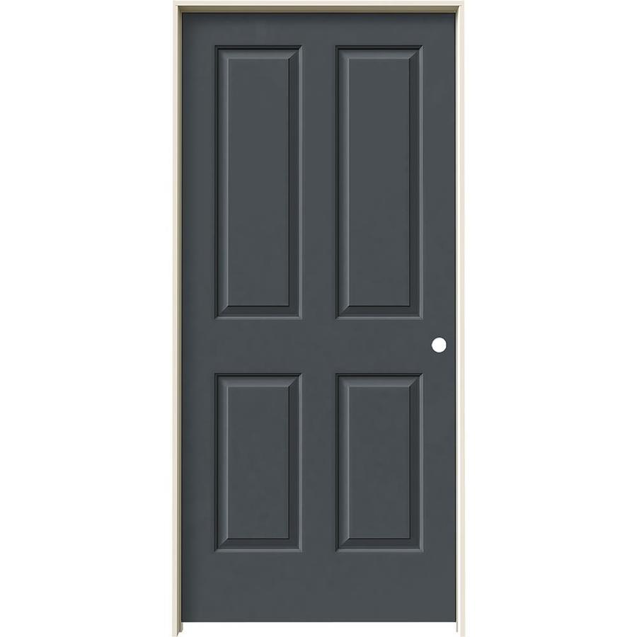 JELD-WEN Slate Prehung Solid Core 4 Panel Square Interior Door (Common: 36-in x 80-in; Actual: 37.562-in x 81.688-in)