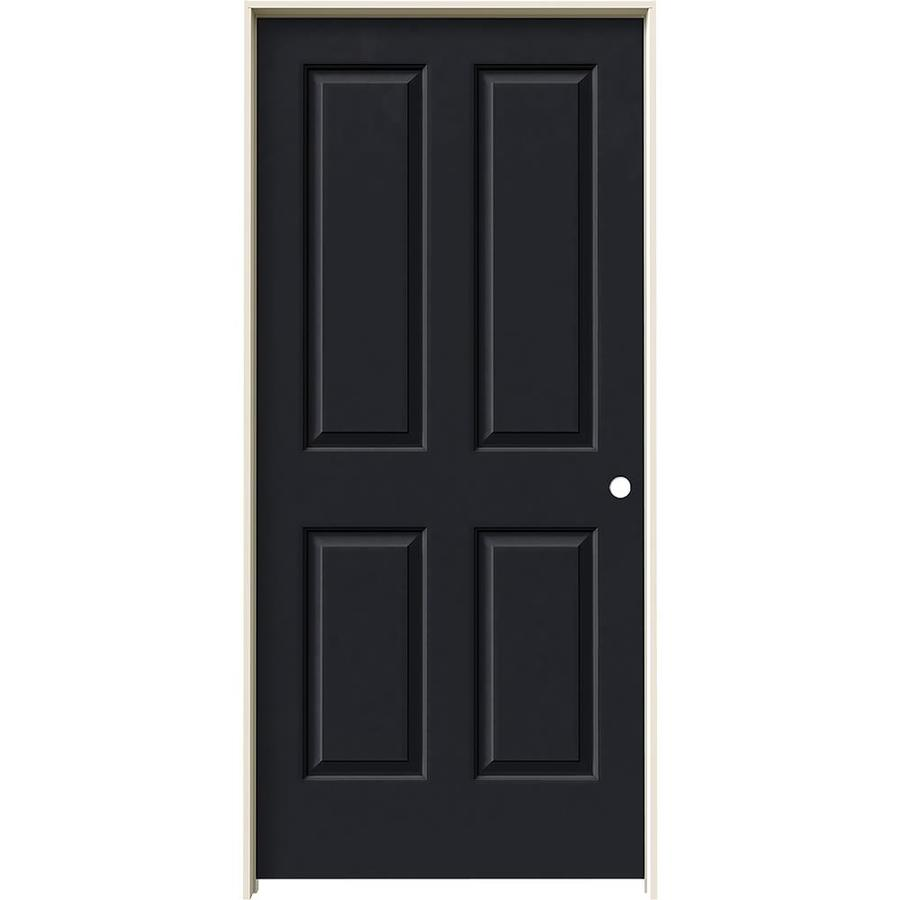 JELD-WEN Coventry Midnight Solid Core Molded Composite Single Prehung Interior Door (Common: 36-in x 80-in; Actual: 37.562-in x 81.688-in)