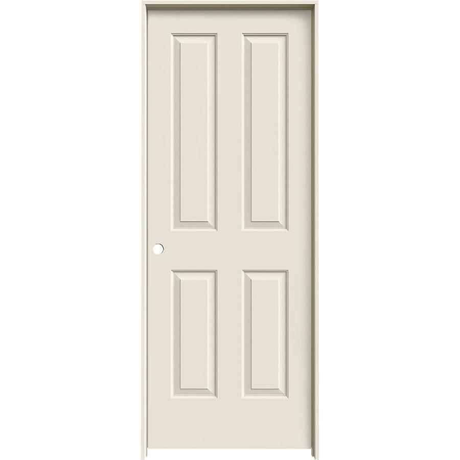 JELD-WEN Prehung Solid Core 4 Panel Square Interior Door (Common: 30-in x 80-in; Actual: 31.562-in x 81.688-in)