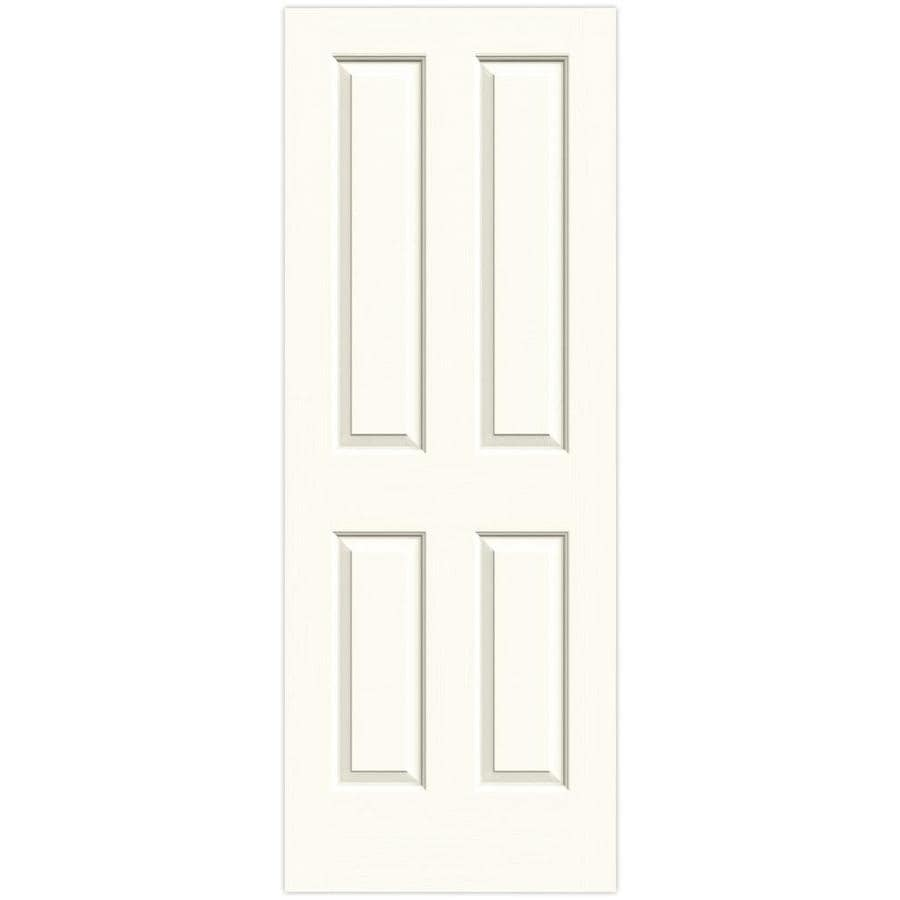 JELD-WEN White 4 Panel Square Slab Interior Door (Common: 28-in x 80-in; Actual: 28-in x 80-in)