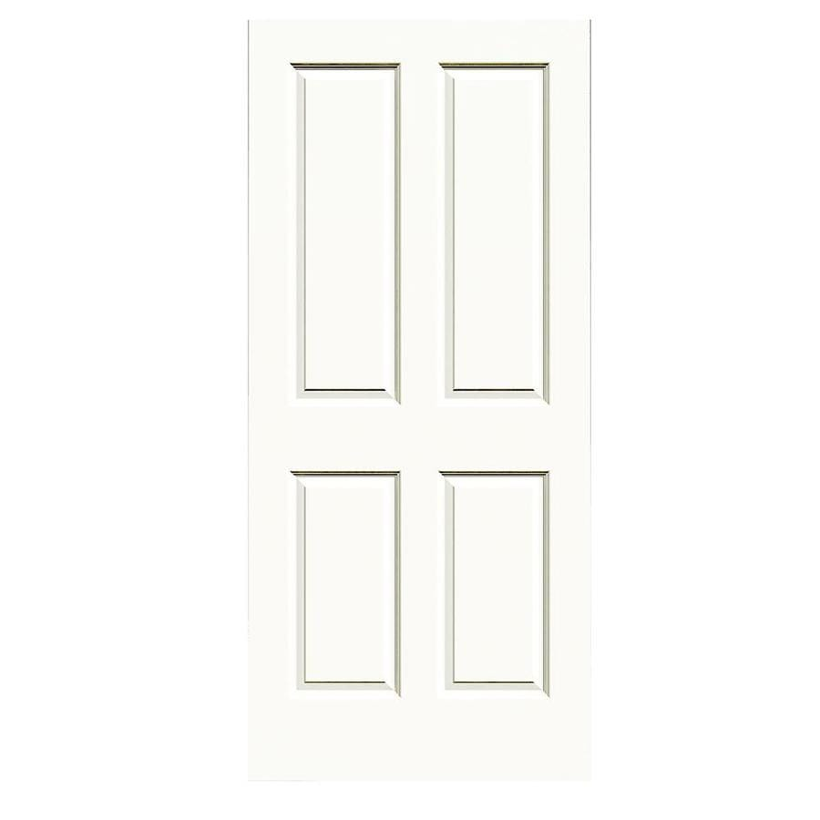 JELD-WEN White Solid Core 4 Panel Square Slab Interior Door (Common: 36-in x 80-in; Actual: 36-in x 80-in)