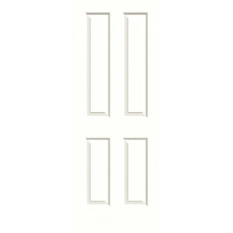 JELD-WEN Moonglow Solid Core 4 Panel Square Slab Interior Door (Common: 24-in x 80-in; Actual: 24-in x 80-in)