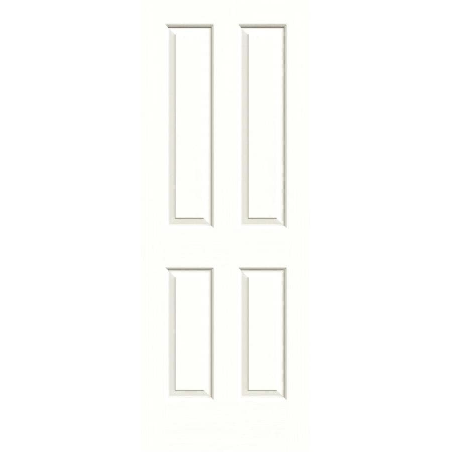 JELD-WEN Moonglow Solid Core 4 Panel Square Slab Interior Door (Common: 30-in x 80-in; Actual: 30-in x 80-in)