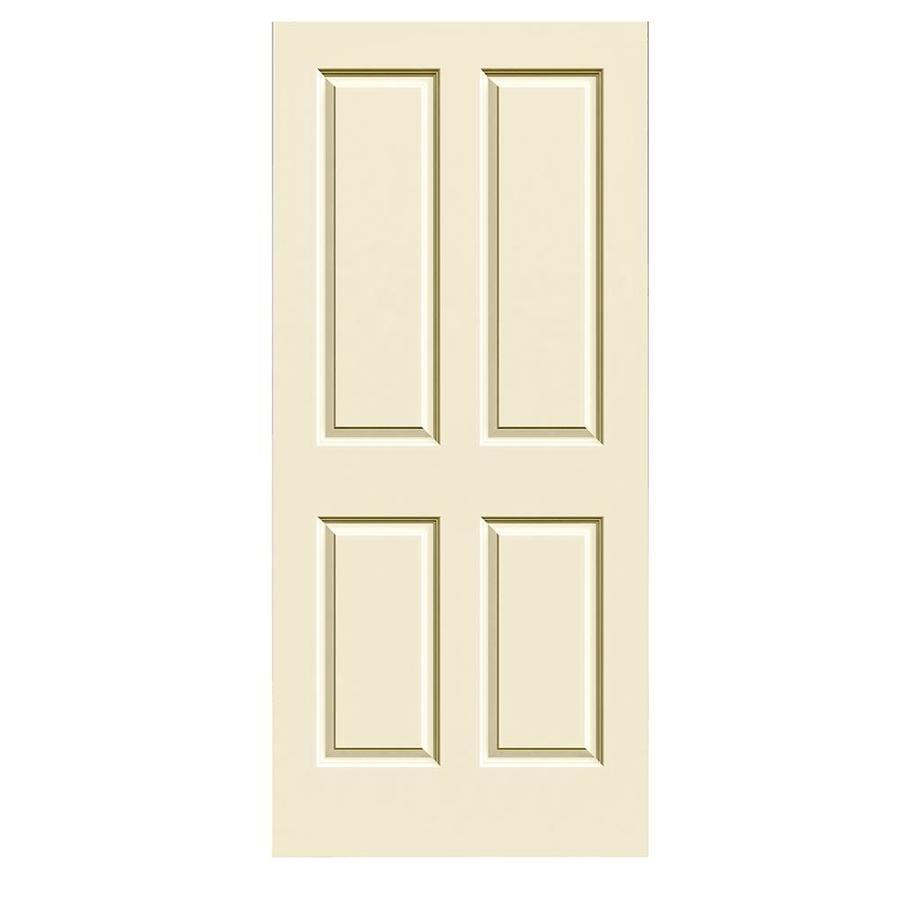 JELD-WEN Cream-N-Sugar Solid Core 4 Panel Square Slab Interior Door (Common: 36-in x 80-in; Actual: 36-in x 80-in)