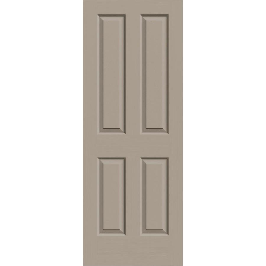 JELD-WEN Sand Piper Solid Core 4 Panel Square Slab Interior Door (Common: 28-in x 80-in; Actual: 28-in x 80-in)