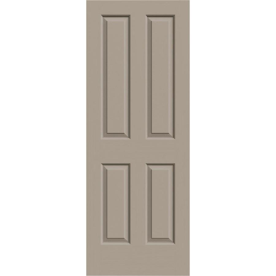 JELD-WEN Sand Piper Solid Core 4 Panel Square Slab Interior Door (Common: 30-in x 80-in; Actual: 30-in x 80-in)