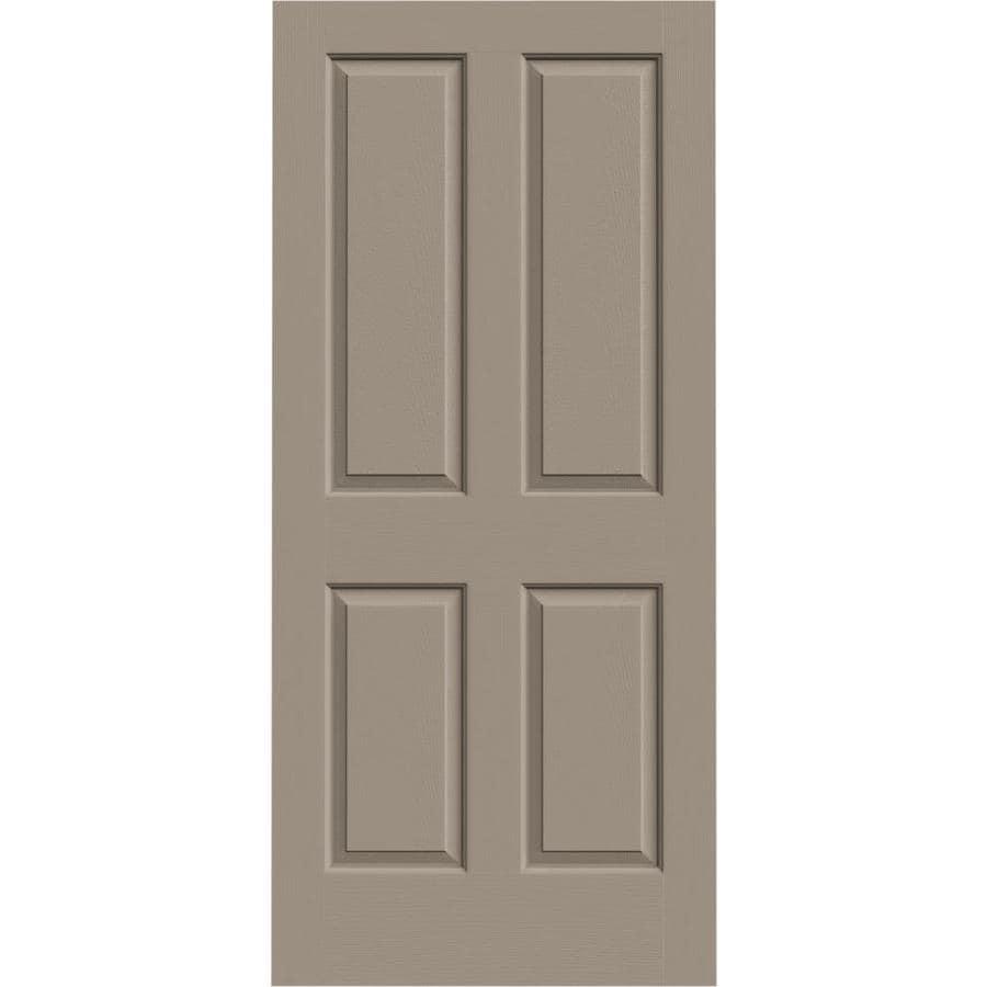 JELD-WEN Coventry Sand Piper 4 Panel Square Slab Interior Door (Common: 36-in x 80-in; Actual: 36-in x 80-in)