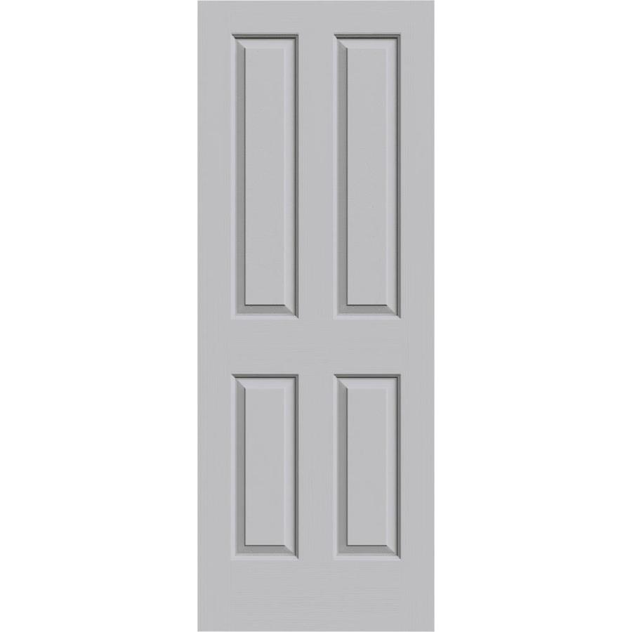 JELD-WEN Driftwood Solid Core 4 Panel Square Slab Interior Door (Common: 24-in x 80-in; Actual: 24-in x 80-in)