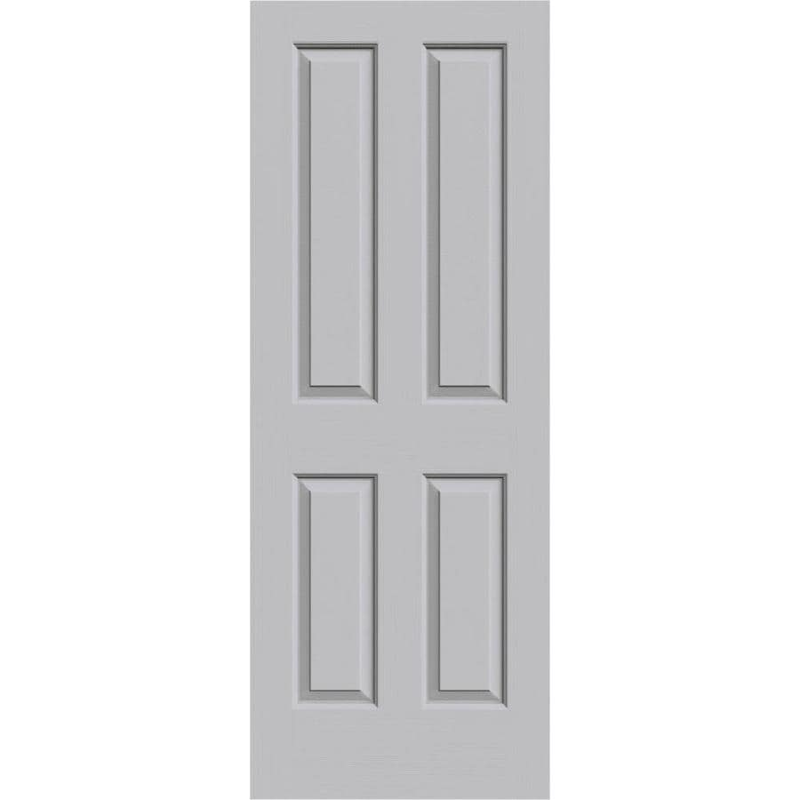 JELD-WEN Driftwood Solid Core 4 Panel Square Slab Interior Door (Common: 32-in x 80-in; Actual: 32-in x 80-in)