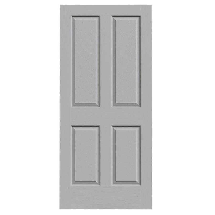 JELD-WEN Coventry Driftwood 4 Panel Square Slab Interior Door (Common: 36-in x 80-in; Actual: 36-in x 80-in)