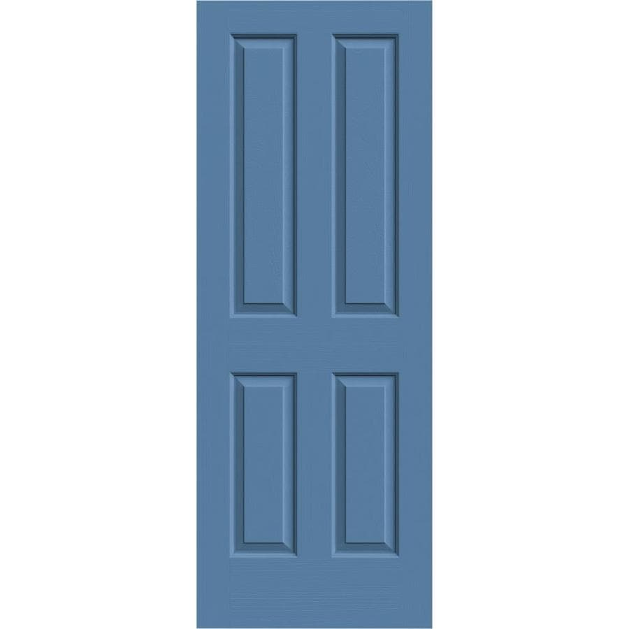 JELD-WEN Blue Heron Solid Core 4 Panel Square Slab Interior Door (Common: 24-in x 80-in; Actual: 24-in x 80-in)