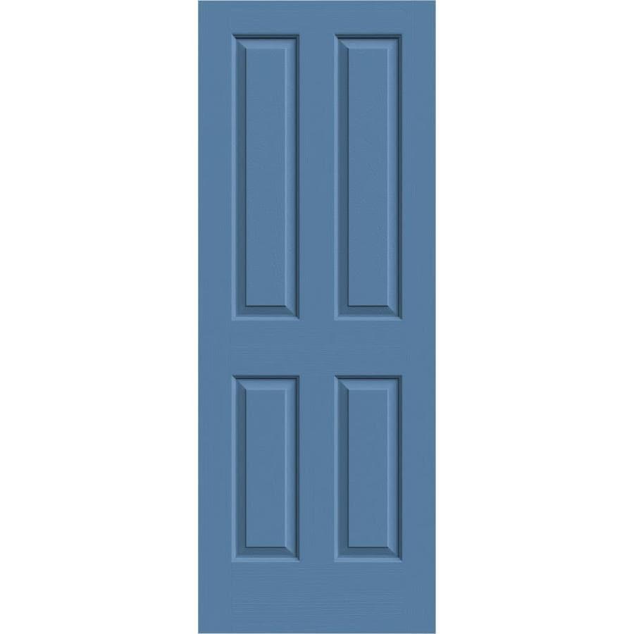 JELD-WEN Coventry Blue Heron 4 Panel Square Slab Interior Door (Common: 28-in x 80-in; Actual: 28-in x 80-in)