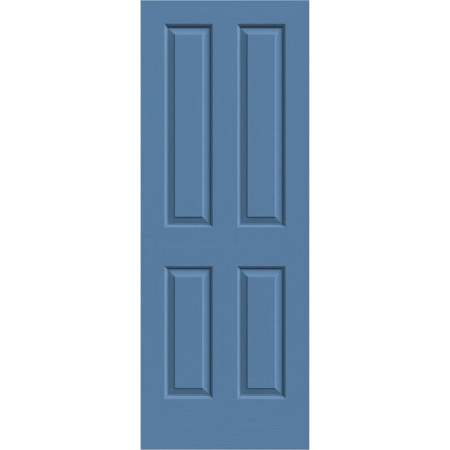 JELD-WEN Blue Heron Solid Core 4 Panel Square Slab Interior Door (Common: 32-in x 80-in; Actual: 32-in x 80-in)