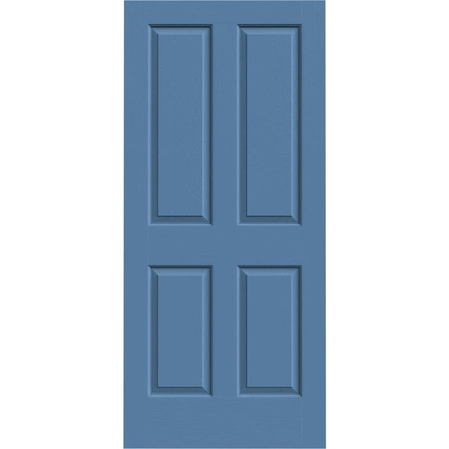 JELD-WEN Blue Heron Solid Core 4 Panel Square Slab Interior Door (Common: 36-in x 80-in; Actual: 36-in x 80-in)